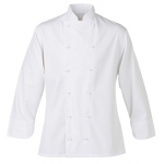 A. Detatchable button long sleeve chef's jacket