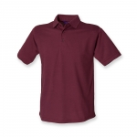 BURGUNDY Unisex Henbury Polo shirt