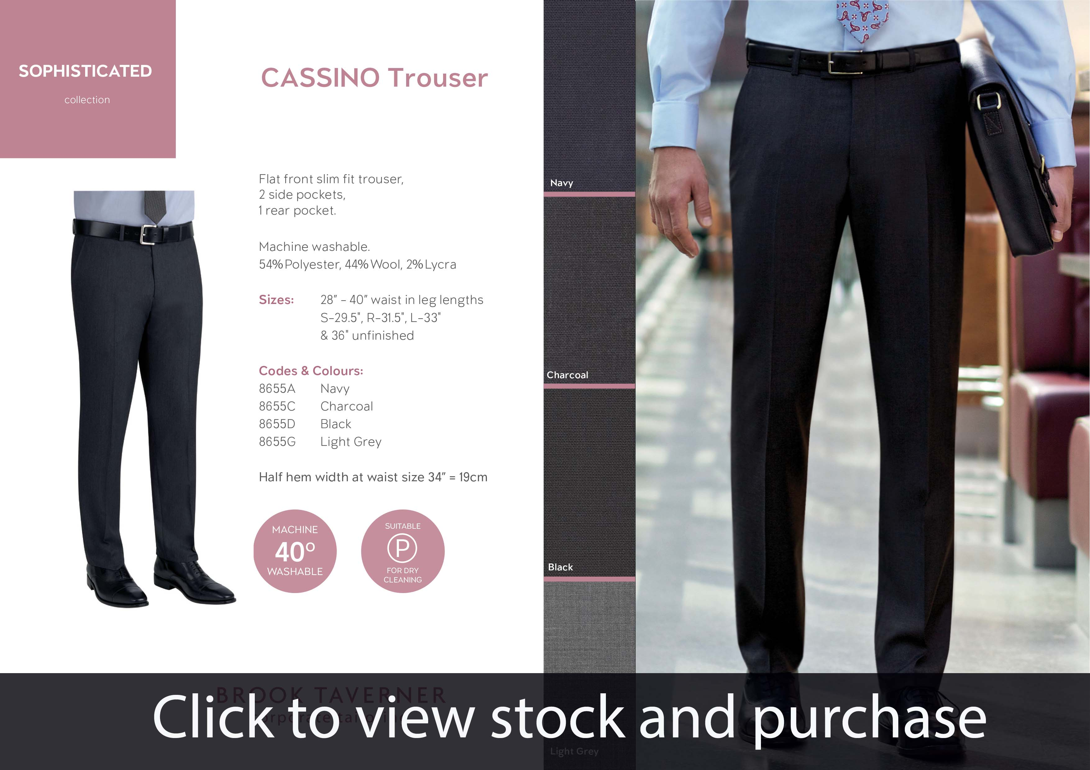 Brook Taverner Cassino Trousers