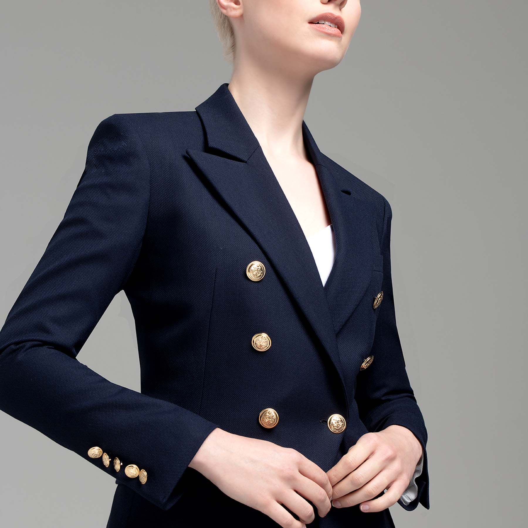 Montero navy double breasted jacket