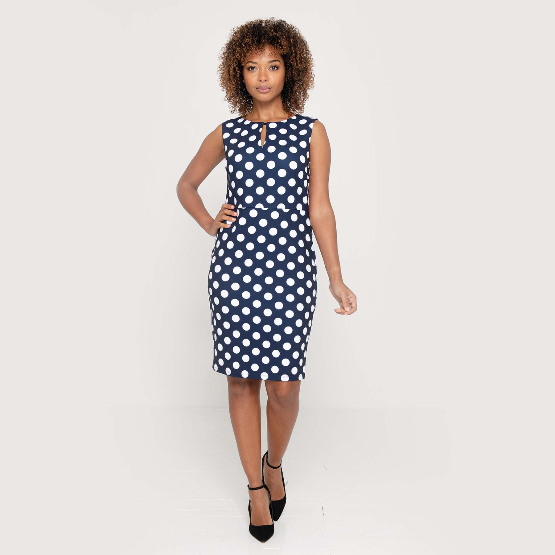 The new Oyoke ladies polka dot dress from clubclass