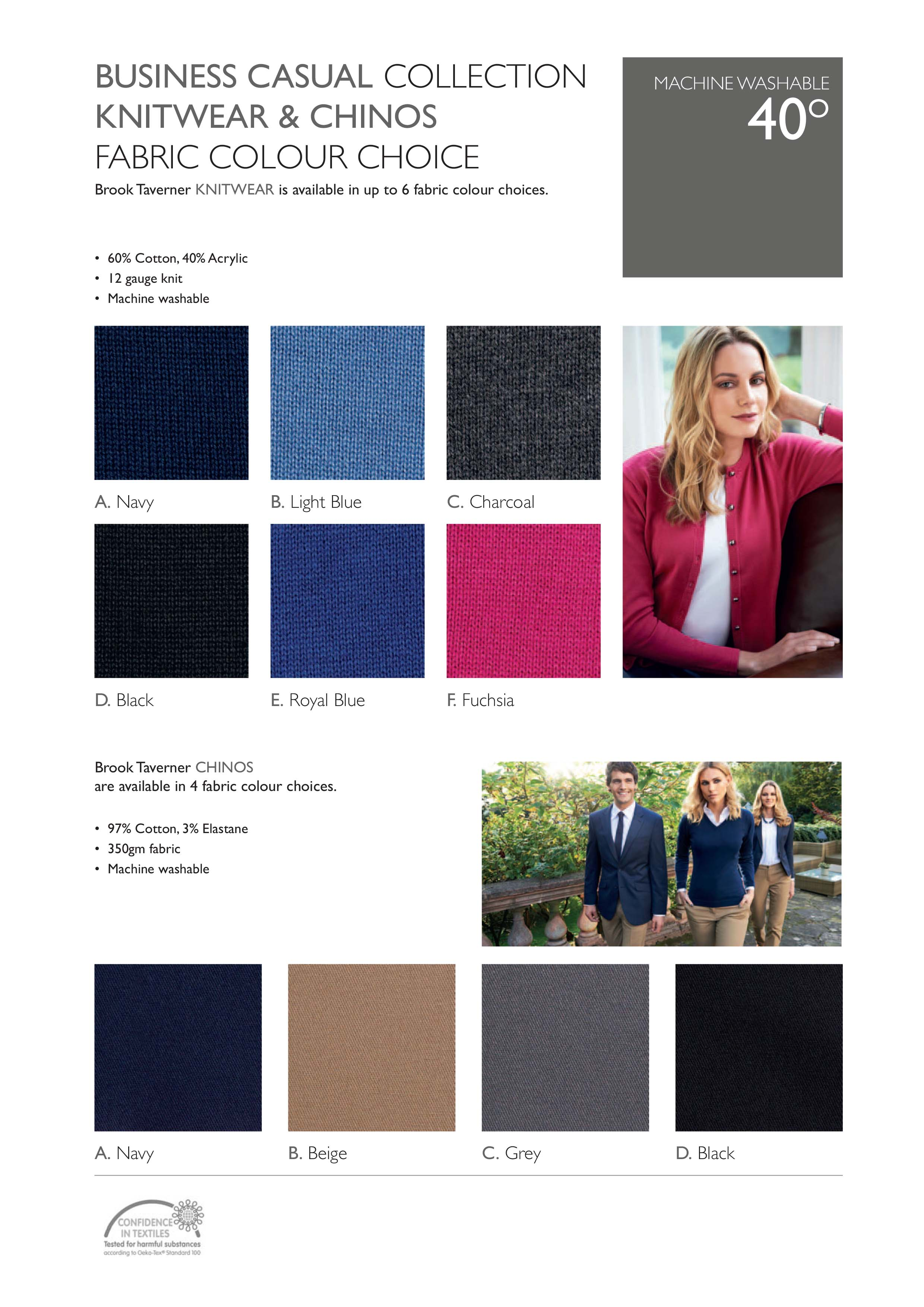 Brook Taverner Business casual fabric and colours