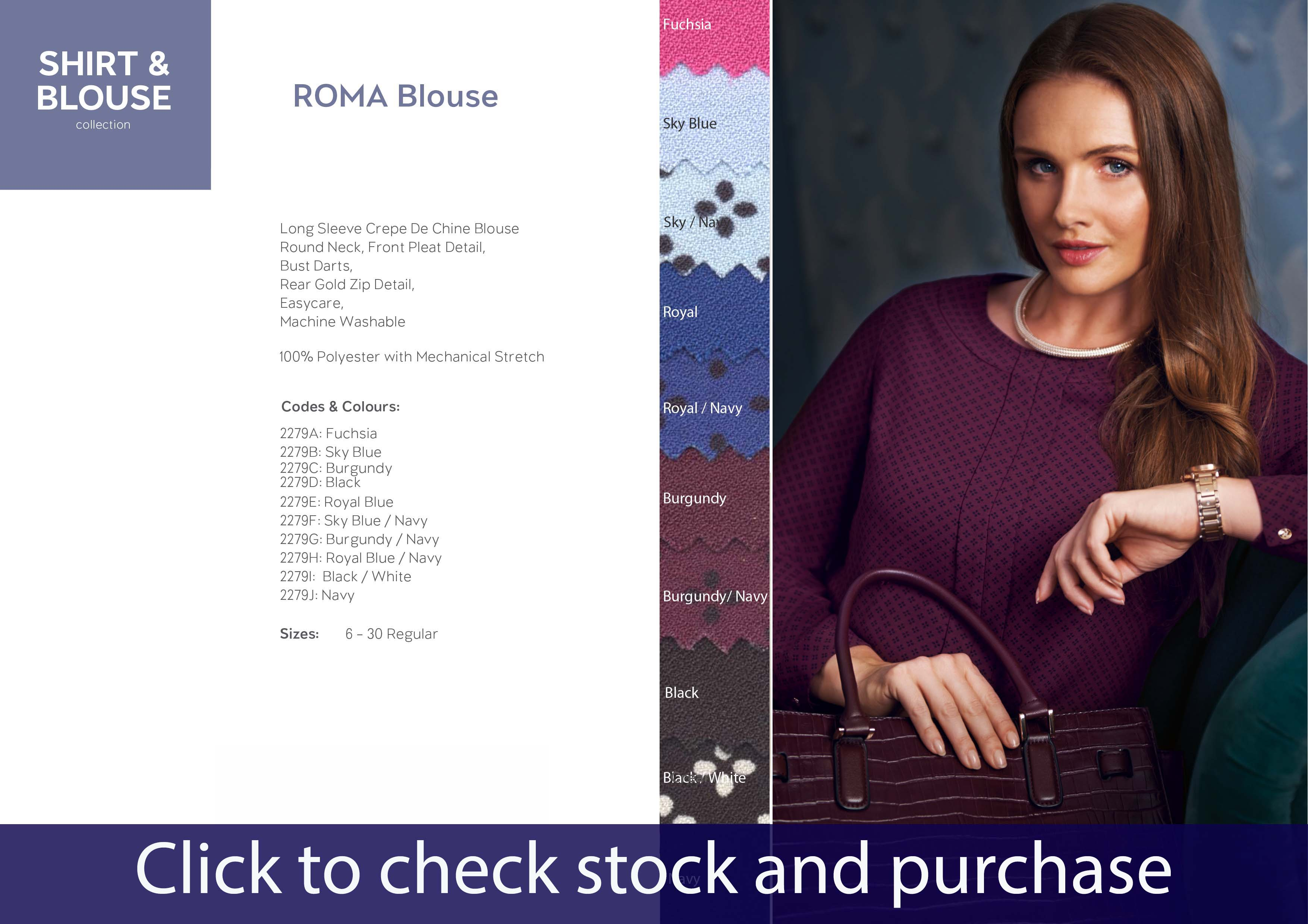 BROOK TAVERNER ROMA BLOUSE 2279
