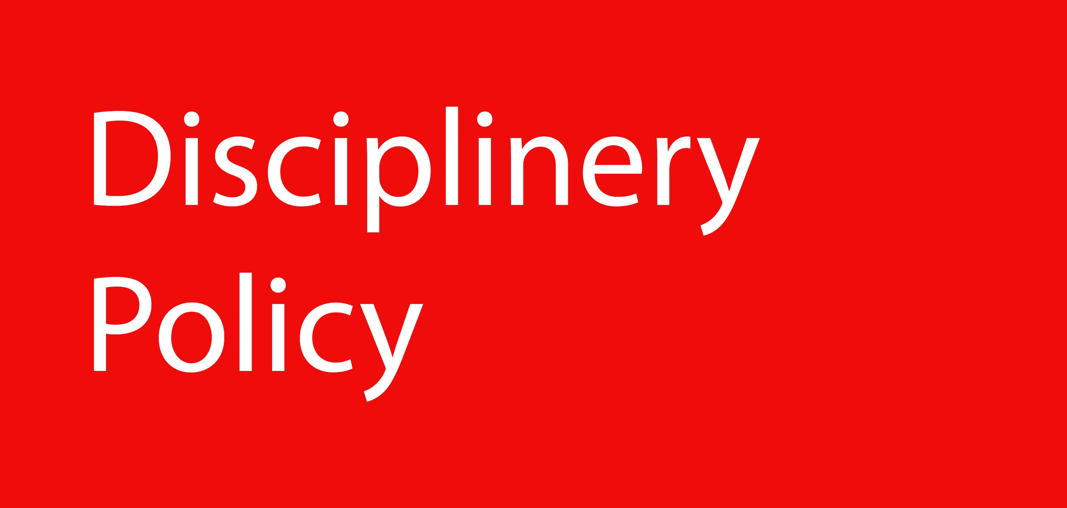 reuniform disciplinery policy